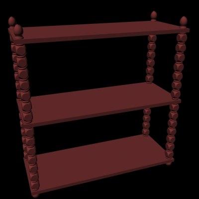 3d 3ds bookshelves shelves