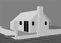 3d model bungalow home