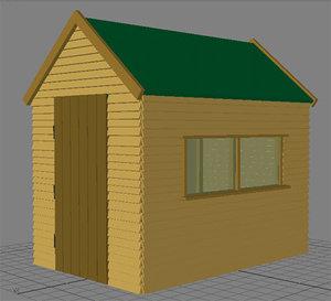 garden shed obj