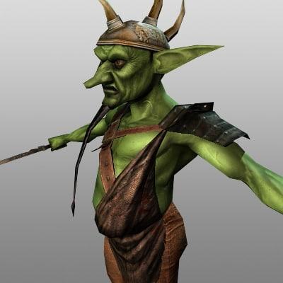 character fantasy creature 3d model