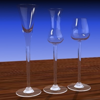 3d cordial glass