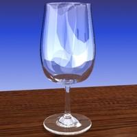 3d model wine glass port