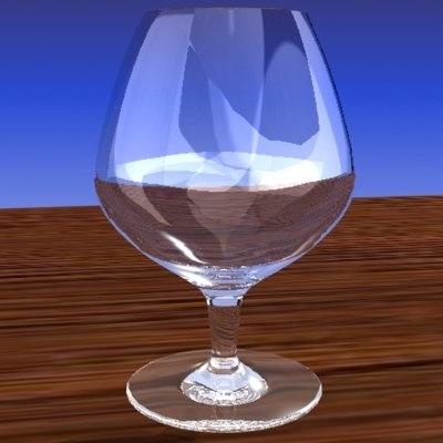 3d snifter glass model