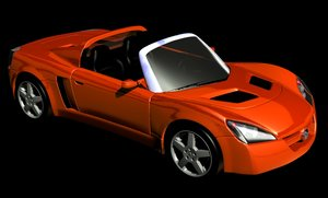 opel speedster cars 3d model
