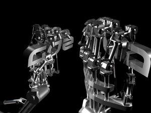 free robot arm 3d model