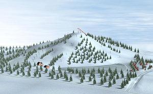 3dsmax slalom ski