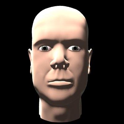 3d model male head