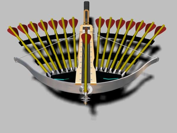 3d weapon pack crossbow arrow points model