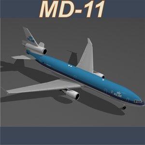 md-11 klm 3d model