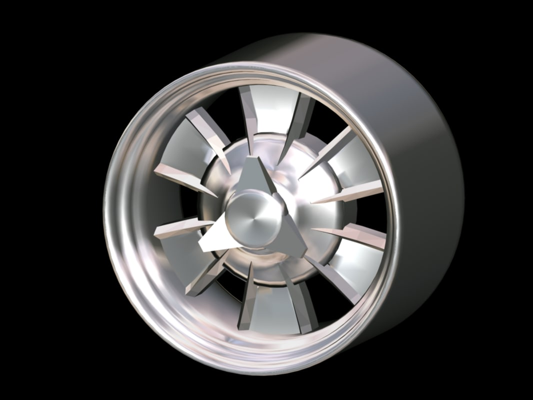 classic mag wheel s 3d model