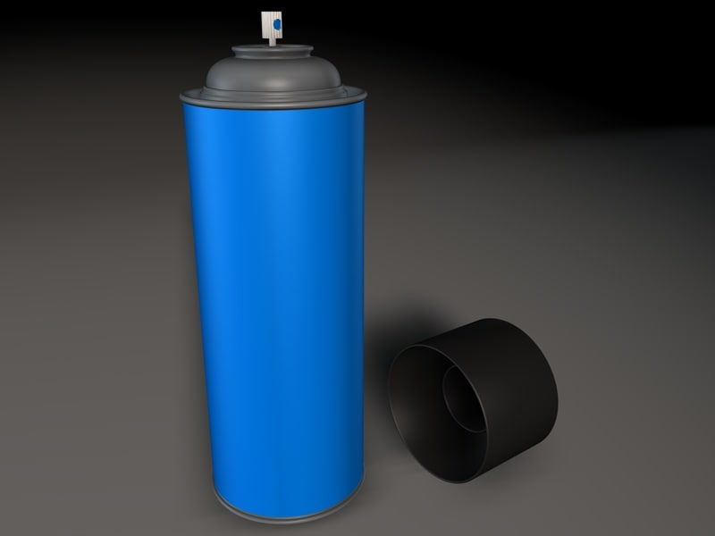 3ds max spraycan paint