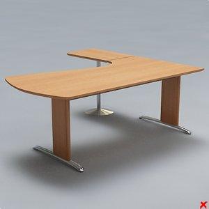 free desk office 3d model
