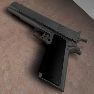 gold cup pistol 3d model