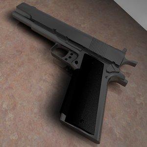 gold cup pistol 3d 3ds