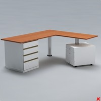 free desk office 3d model