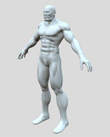 muscle man human anatomy 3d model