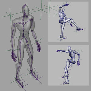 mannequin human animator 3d model