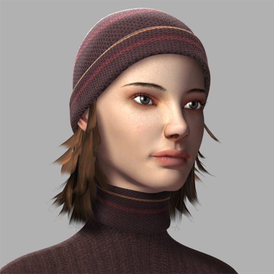 lucy female face 3d model