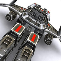 fighter space ship 3d model