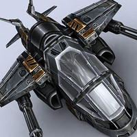 gunship fighter space 3d 3ds