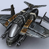 gunship fighter 3d model