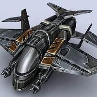 gunship fighter 3d model