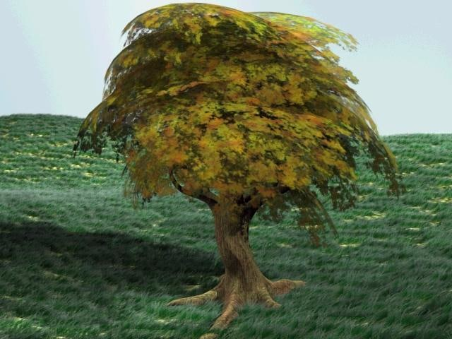 modeled tree leafs 3d model