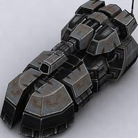 3d model hover tank