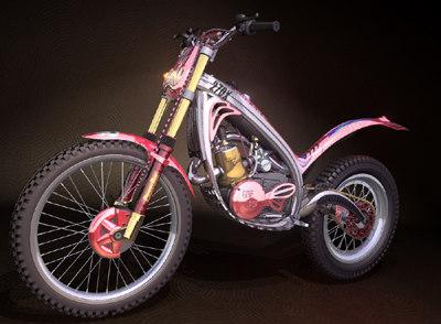 3d trials bike model