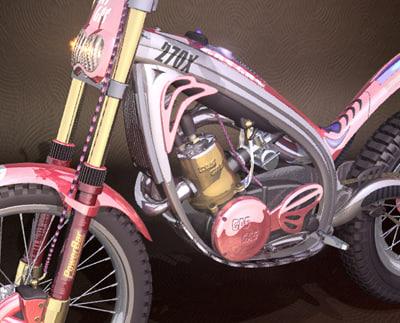 trials bike iges 3d ige