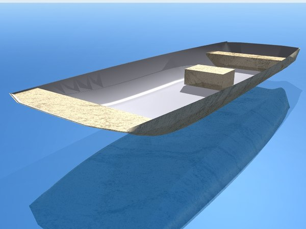 free johnboat boat 3d model