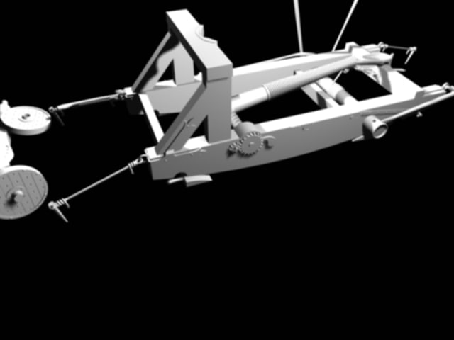 aircrew 15th century french catapult 3d model