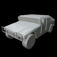 hummer jeep 3d ma