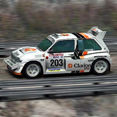 metro 6r4 rally car 3d model
