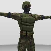 3ds max character human soldier