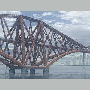 bridges forth rail 3d model