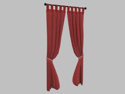 drapes window 3d model