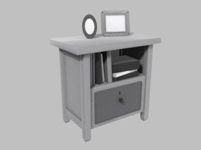 shelf drawer 3d 3ds