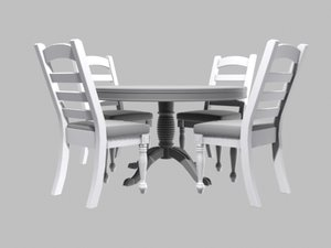 kitchen table chairs 3ds