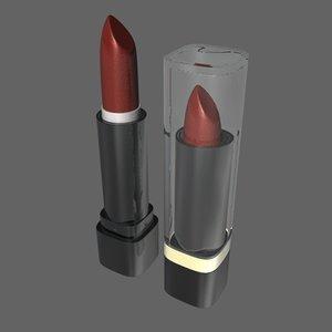 lipstick makeup accessories c4d