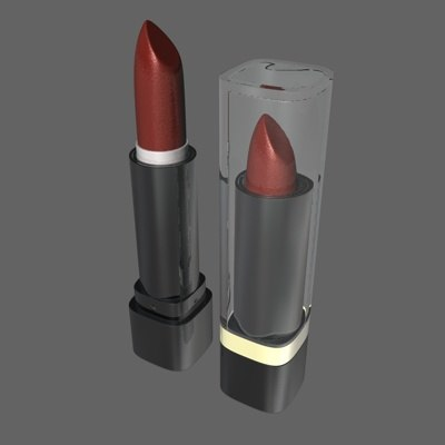 lipstick makeup accessories c4d