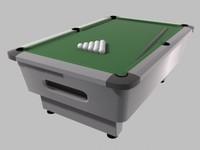 pool table 3d obj
