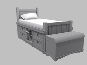 3d model childrens bed