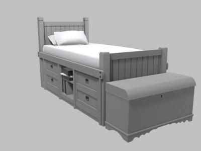 3d model childrens bed