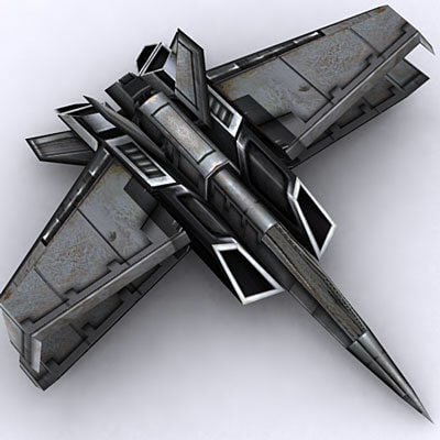 spaceship fighter plane 3d max