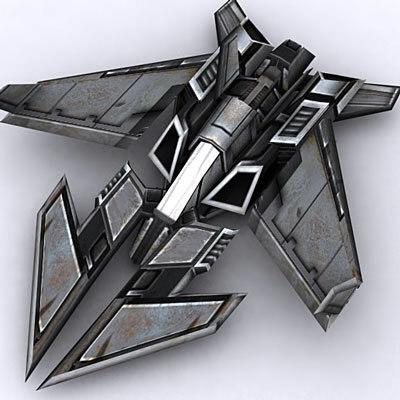 3ds max spaceship fighter plane