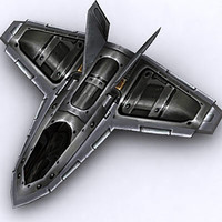 spaceship fighter space 3d model