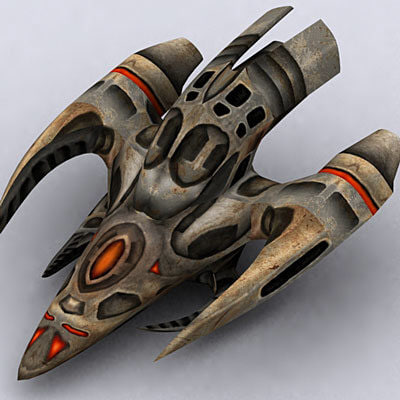 3d alien space ship model