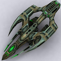 3d alien space ship