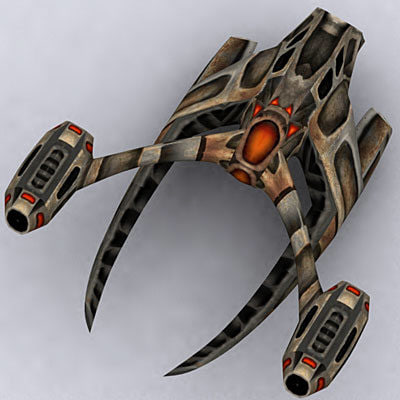 3d alien space ship